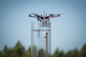drone prêt au décollage